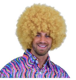 Super Afro Pruik Blond