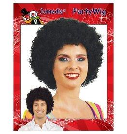 Krullenbol Pruik Zwart
