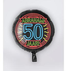 Neon Folie Ballon - Abraham 50 jaar