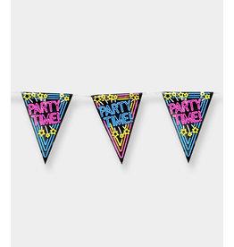 Neon Party Vlaggenlijn - Party Time!