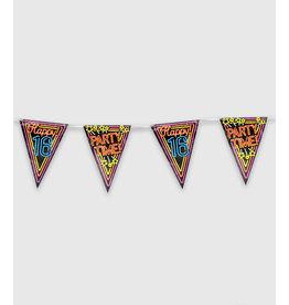 Neon Party Vlaggenlijn – 16 Jaar