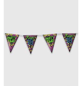 Neon Party Vlaggenlijn – 18 Jaar