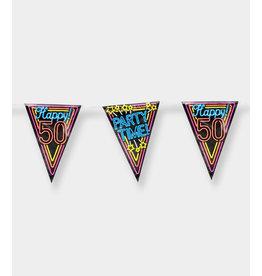 Neon Party Vlaggenlijn – 50 Jaar