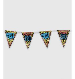 Neon Party Vlaggenlijn – 60 Jaar