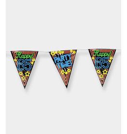 Neon Party Vlaggenlijn – 65 Jaar