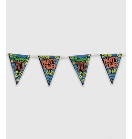 Neon Party Vlaggenlijn – 70 Jaar