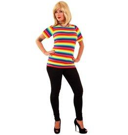 T-Shirt Regenboogprint Dames