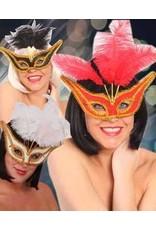 Oogmasker Gran Gala met Veertjes