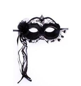 Oogmasker met Kant, Zwart
