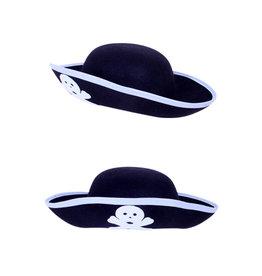 Piratenhoed/3-Steek Kind, Zwart