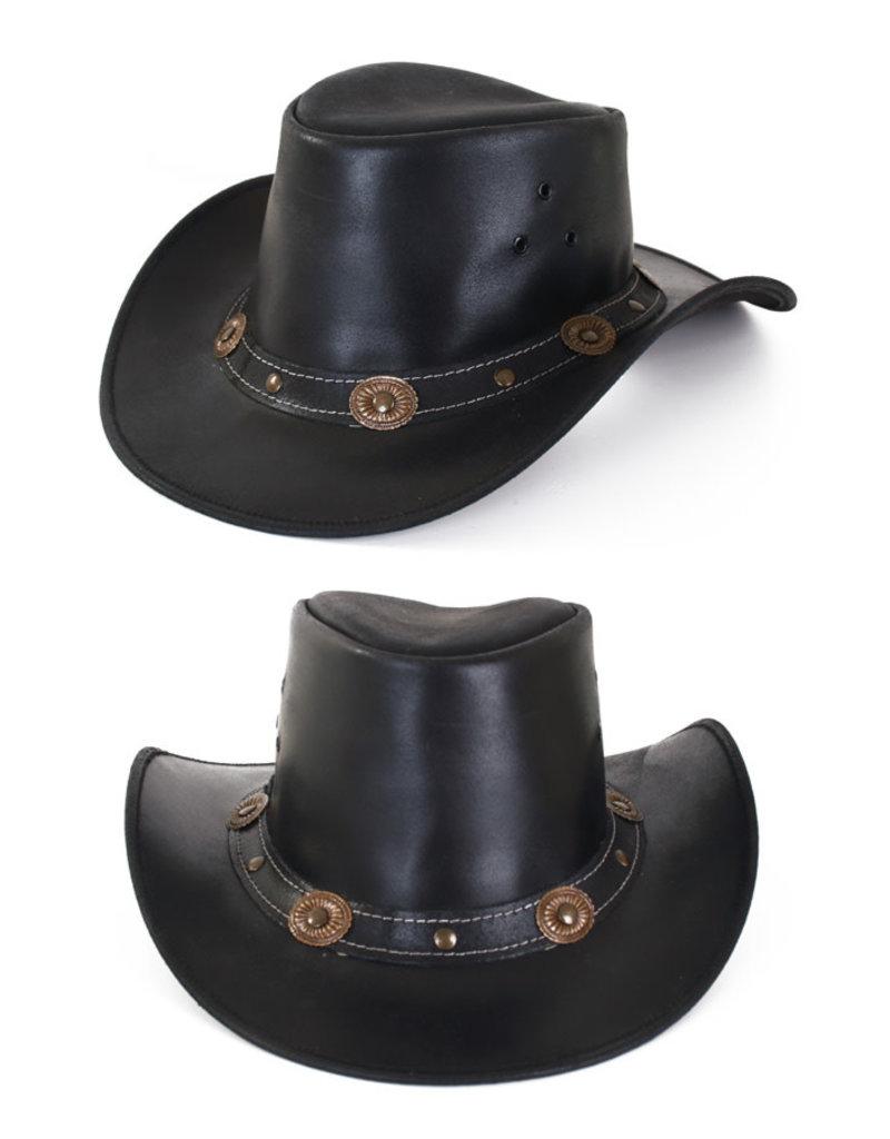 Cowboy Hoed Leer, Zwart