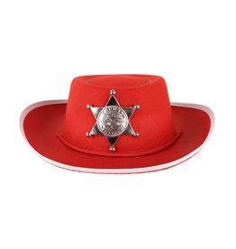 Hoed Vilt Cowboy Kid Rood