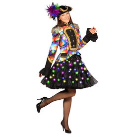 Petticoat Bellatrix, Zwart-Multicolor