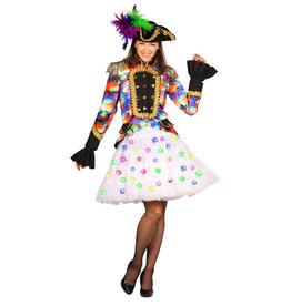Petticoat Bellatrix, Wit-Multicolor