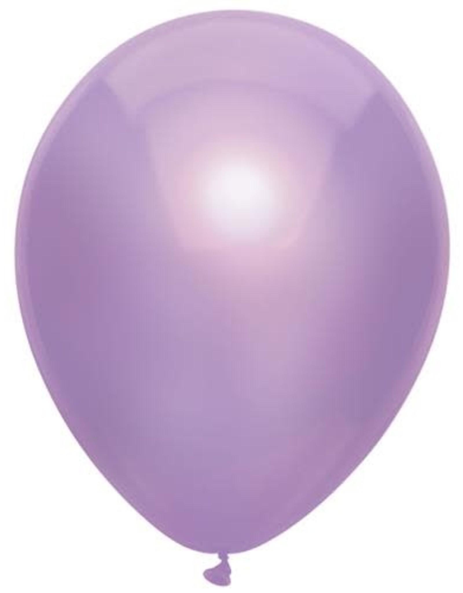 Haza Ballonnen Uni Metallic Lila (30 cm, 100 stuks)