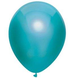 Haza Ballonnen Uni Metallic Groenblauw (30 cm, 100 stuks)