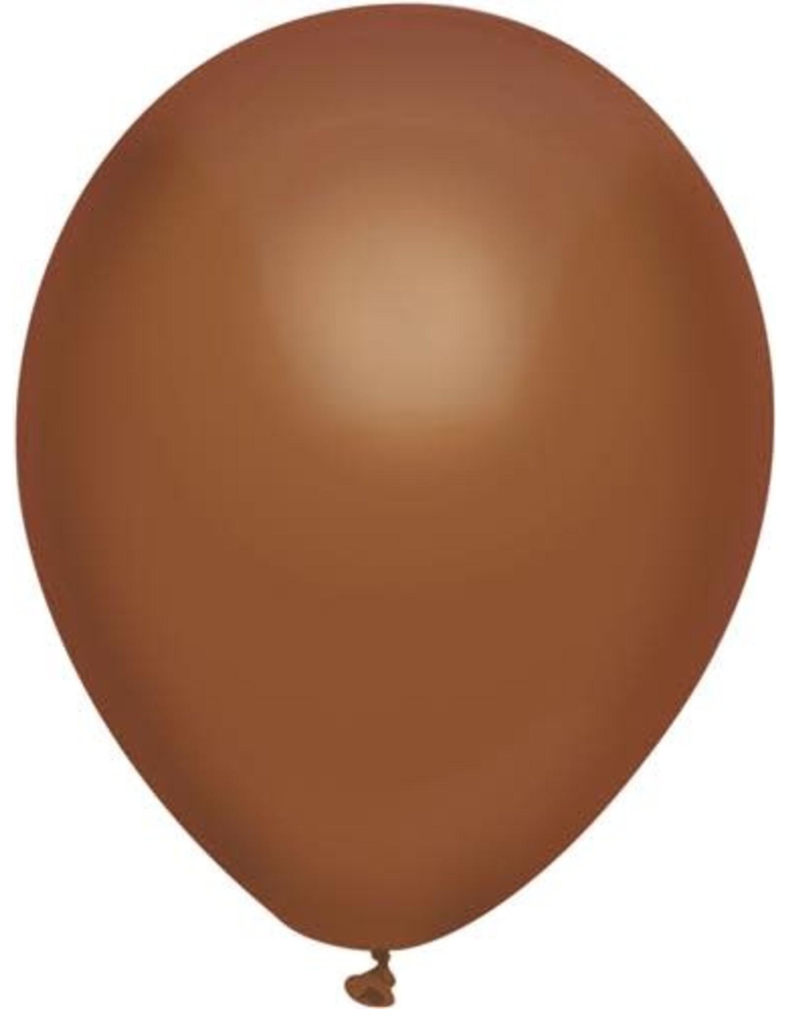 Ballonnen Uni Chocola (30 cm, 100 stuks)