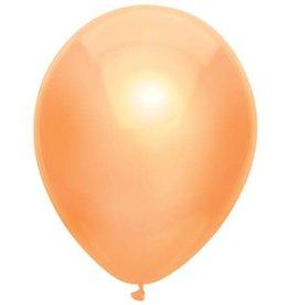 Haza Ballonnen Uni Metallic Peach (30 cm, 100 stuks)