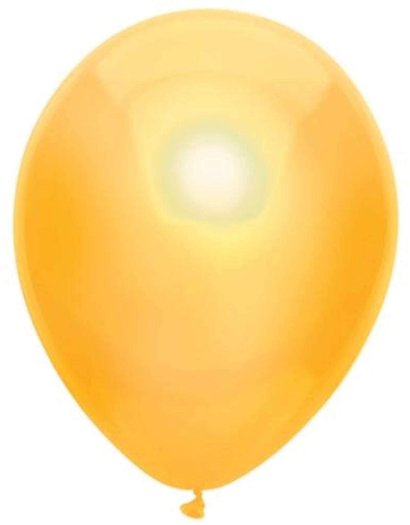 Haza Ballonnen Uni Metallic Geel (30 cm, 100 stuks)