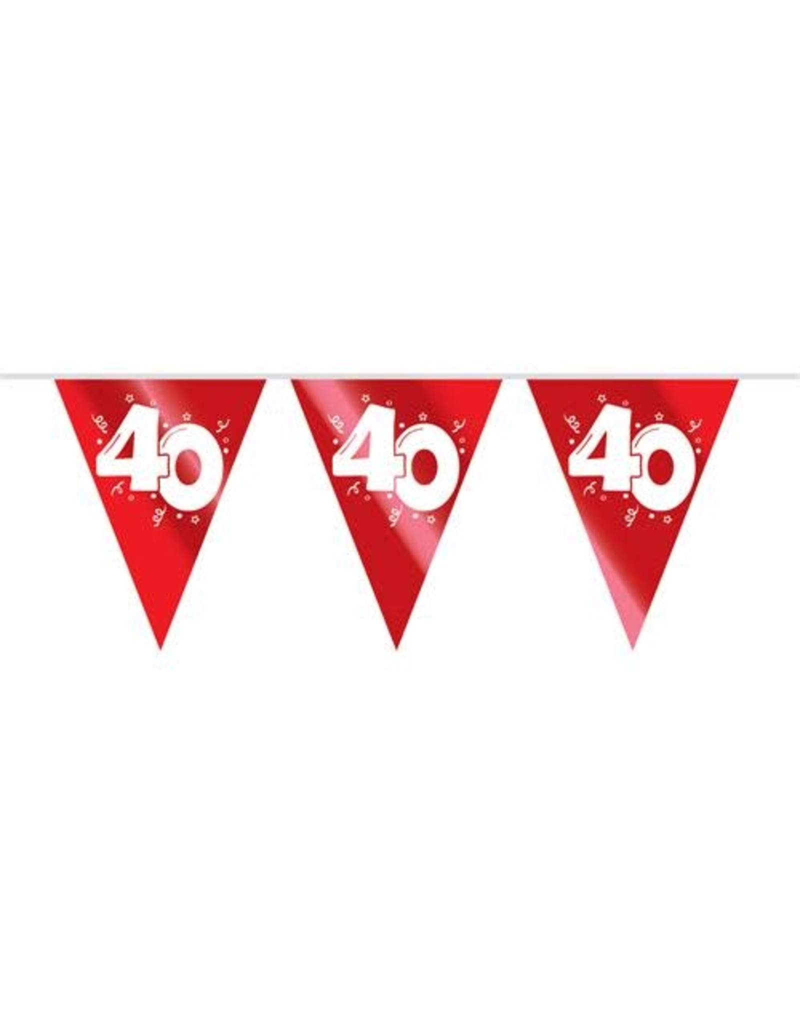 Vlaggenlijn Robijn 40 jaar (10 m)