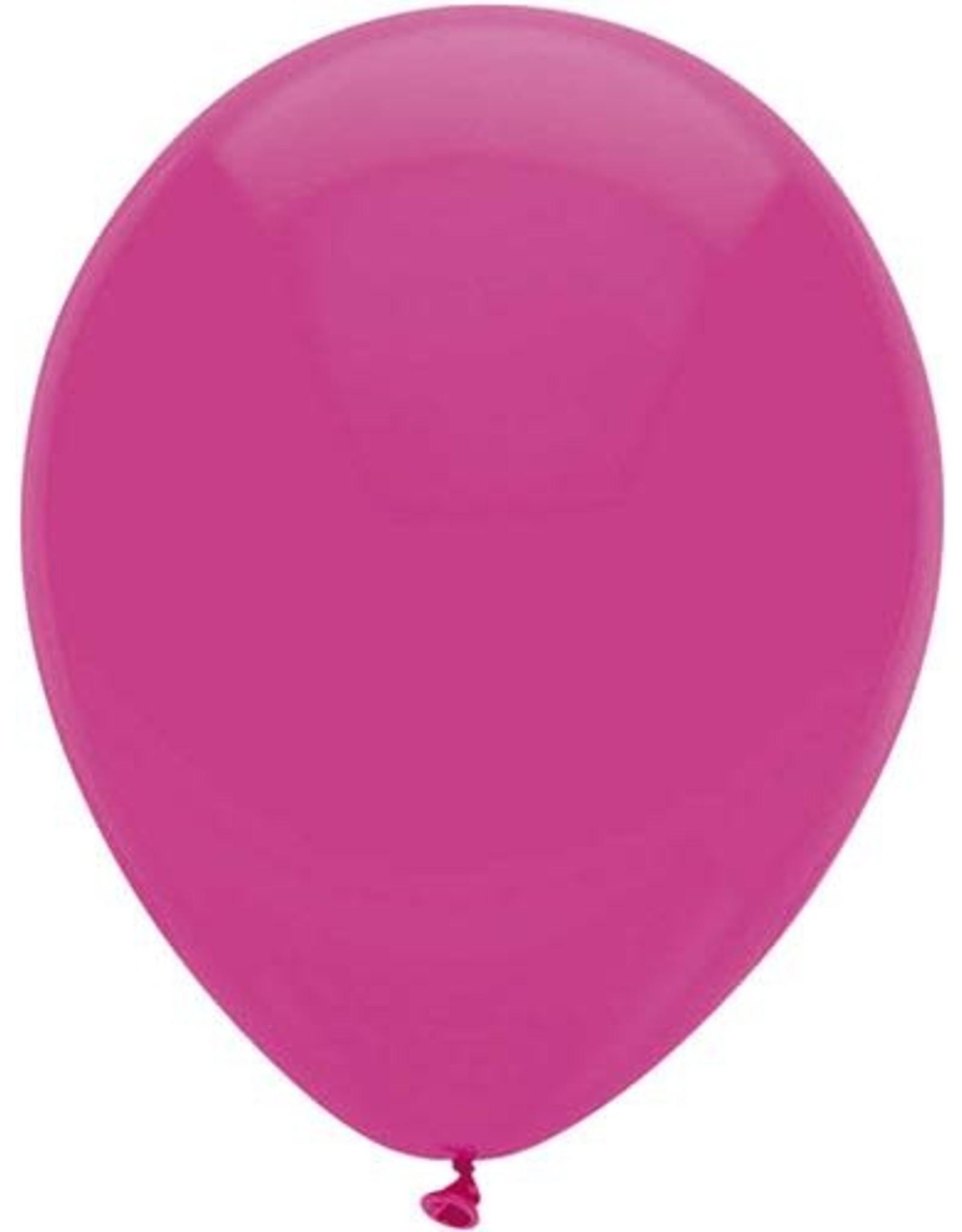 Ballonnen Uni Hot Pink (30 cm, 100 stuks)