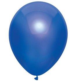 Haza Ballonnen Uni Metallic Donker Blauw (30 cm, 100 stuks)