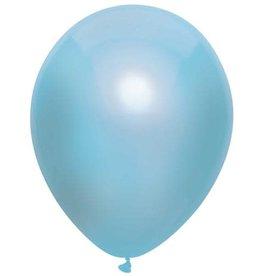 Haza Ballonnen Uni Metallic Licht Blauw (30 cm, 100 stuks)