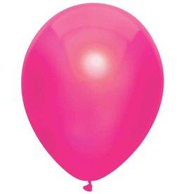 Haza Ballonnen Uni Metallic Hot Pink (30 cm, 100 stuks)