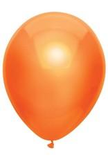 Haza Ballonnen Uni Metallic Oranje (30 cm, 100 stuks)