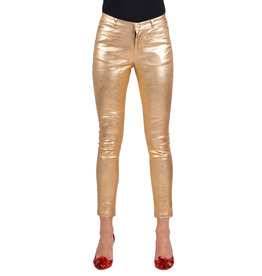 Stretchbroek Metallic, Goud