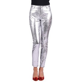 Stretchbroek Metallic, Zilver