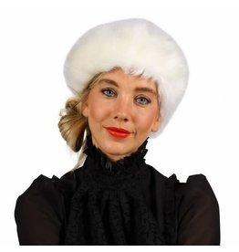 Haarband Pluche, Wit