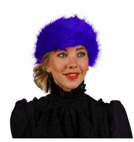 Haarband Pluche, Blauw