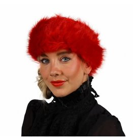 Haarband Pluche, Rood