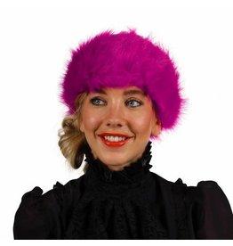 Haarband Pluche, Roze