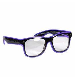 Led Bril, Blauw-Zwart