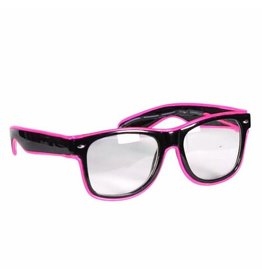 Led Bril, Roze-Zwart