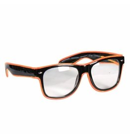 Led Bril, Oranje-Zwart