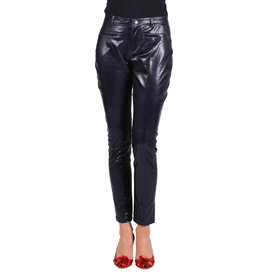 Stretchbroek Metallic, Zwart