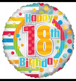 Folie Ballon Happy 18th Birthday (45 cm)