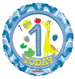 Folie Ballon Happy 1st Birthday, Jongen (45 cm)