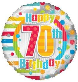 Folie Ballon Happy 70th Birthday (45 cm)