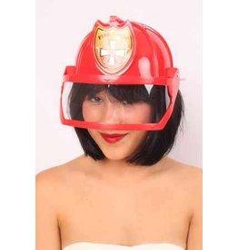 Brandweerhelm Rood met Vizier, One Size