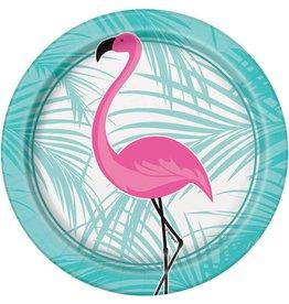 Bordjes Flamingo (18 cm, 8 stuks)
