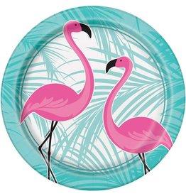 Bordjes Flamingo (23 cm, 8 stuks)