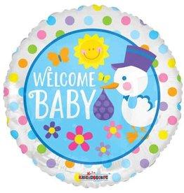 Folie Ballon Welcome Baby (45 cm)