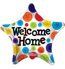 Folie Ballon Ster Welcome Home (45 cm)