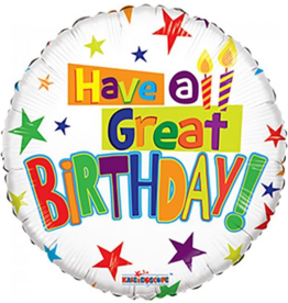 Folie Ballon Have A Great Birthday (45 cm)