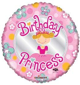 Folie Ballon  Birthday Princess  (45 cm)