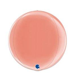 Folieballon Globe Roségoud (38 cm)